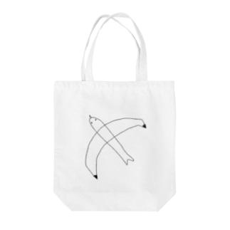 かもめ(ブラック) Tote bags