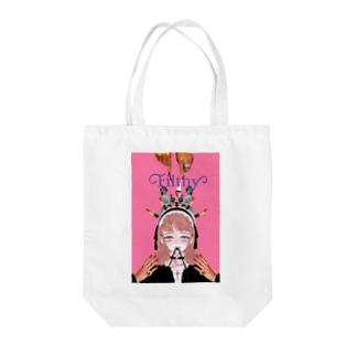不道徳 Tote bags
