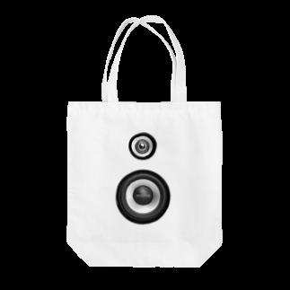 HIDETALONのスピーカー Tote bags