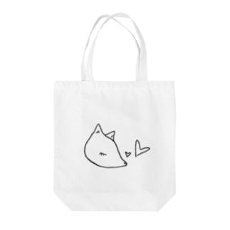 ホワイトバンビ Tote bags