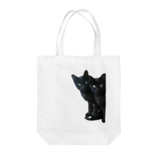 ちばっちょ【ち畳工房&猫ねこパラダイス】の黒猫は見た Tote Bag