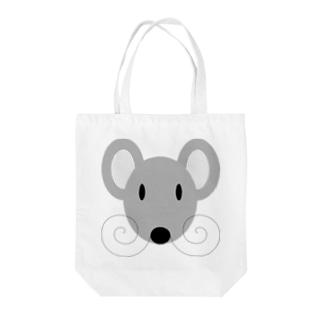 灰ネズミ Tote bags