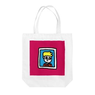 がくぶちぼーい Tote bags