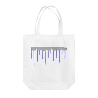 nyoroの雨の日(青) Tote bags