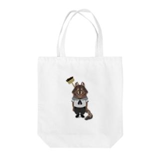 水兵さんに転職したオオカミ Tote bags
