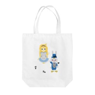 アリス&ホワイトラビット Tote bags