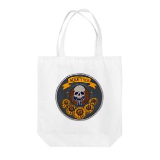 【骨と植物】イエローガーベラ Tote bags