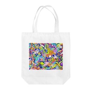 海のセンリツ Tote bags