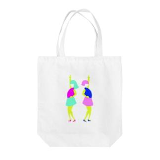 100%アイドル Tote bags