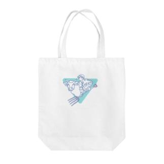 牛ガール Tote bags
