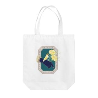 Carnation 胡錦鳥 Tote bags