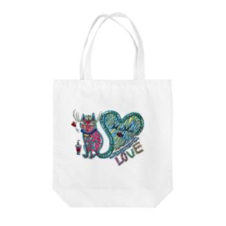 猫の神様 Tote bags