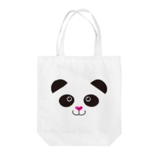 ぱんだフェイス Tote bags