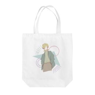 ぱきぱき Tote bags