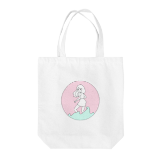 becoの水に入るオンナのコ Tote bags