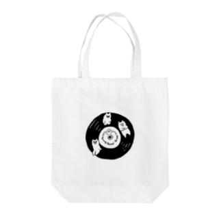 3匹のくまとレコード Tote bags