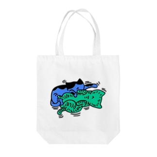 たわむれ猫 Tote bags
