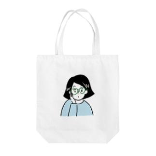 GWちゃん(Tシャツ水色バージョン) Tote bags
