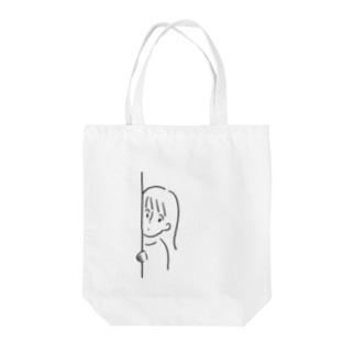 ひょっこりちゃん Tote bags