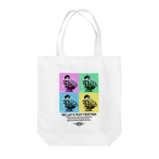 スズメのおチリ(ポップアート風) Tote bags