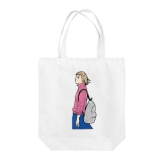 ガサ女 Tote bags