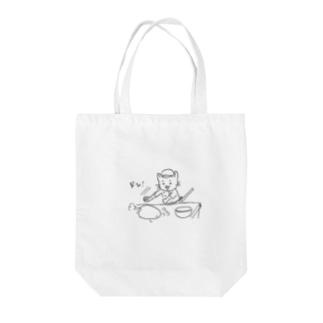 パンにゃん。 Tote bags
