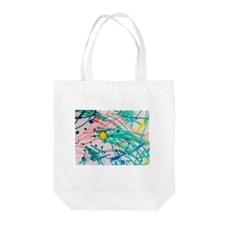 息子のペンアート(かぼちゃ) Tote bags