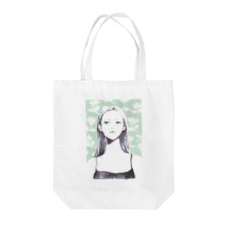 girl_001 Tote bags