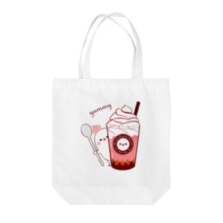 ちゅんカフェ 苺 Tote bags