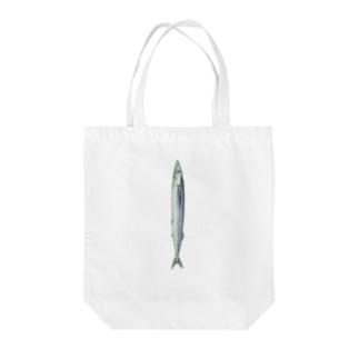 オハデザインのさんま Tote bags