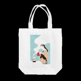 はしもとゆかのCOFFEE TIME Tote bags
