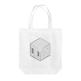 ねんねキューブLINE Tote bags