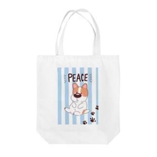 ぴーす Tote bags