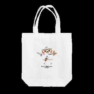 aliveONLINE SUZURI店のスズメ忍法帖 Tote bags