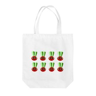 赤カブ坊や Tote bags