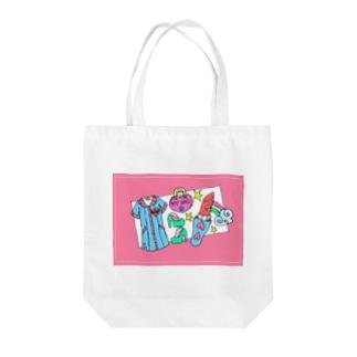 🌈rainbow diary Tote bags