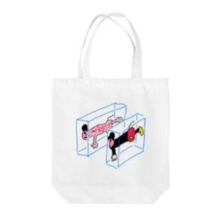 ハンブンマウス Tote bags
