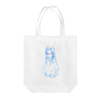 丸メガネchanラフ Tote bags