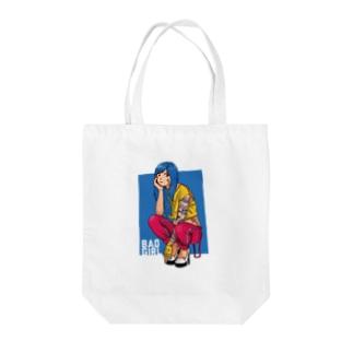 BAD GIRL Tote bags