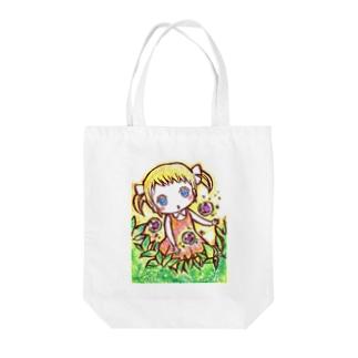 めありちゃんのお散歩トート Tote bags