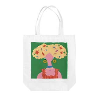 【FLORAL DECORATION - GREEN】 Tote bags