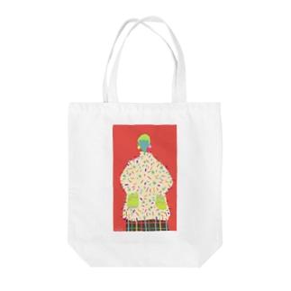 F U U R Oの【AUTUMN RED】 Tote bags