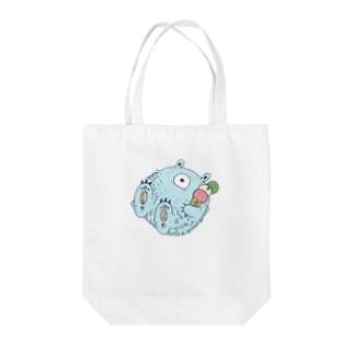 夏を満喫するイエティ【カラー】 Tote bags