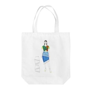 南の島のマーメイド Tote bags