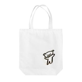 ノってるクマ Tote bags