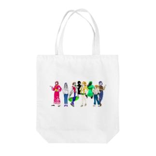 五教科擬人化キャラのバック Tote bags