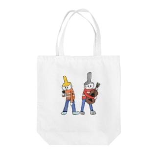 道路のミュージシャン Tote bags