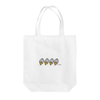 ハシビロ Tote bags