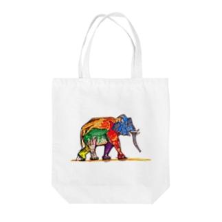 オサレゾウ Tote bags