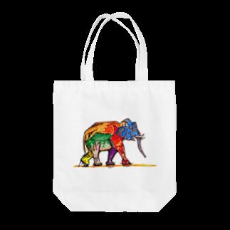 星のオサレゾウ Tote bags